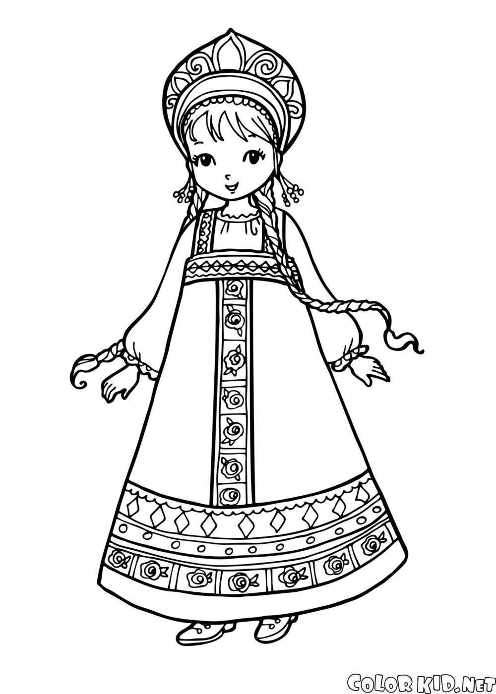 Dziewczyna w stroju ludowym