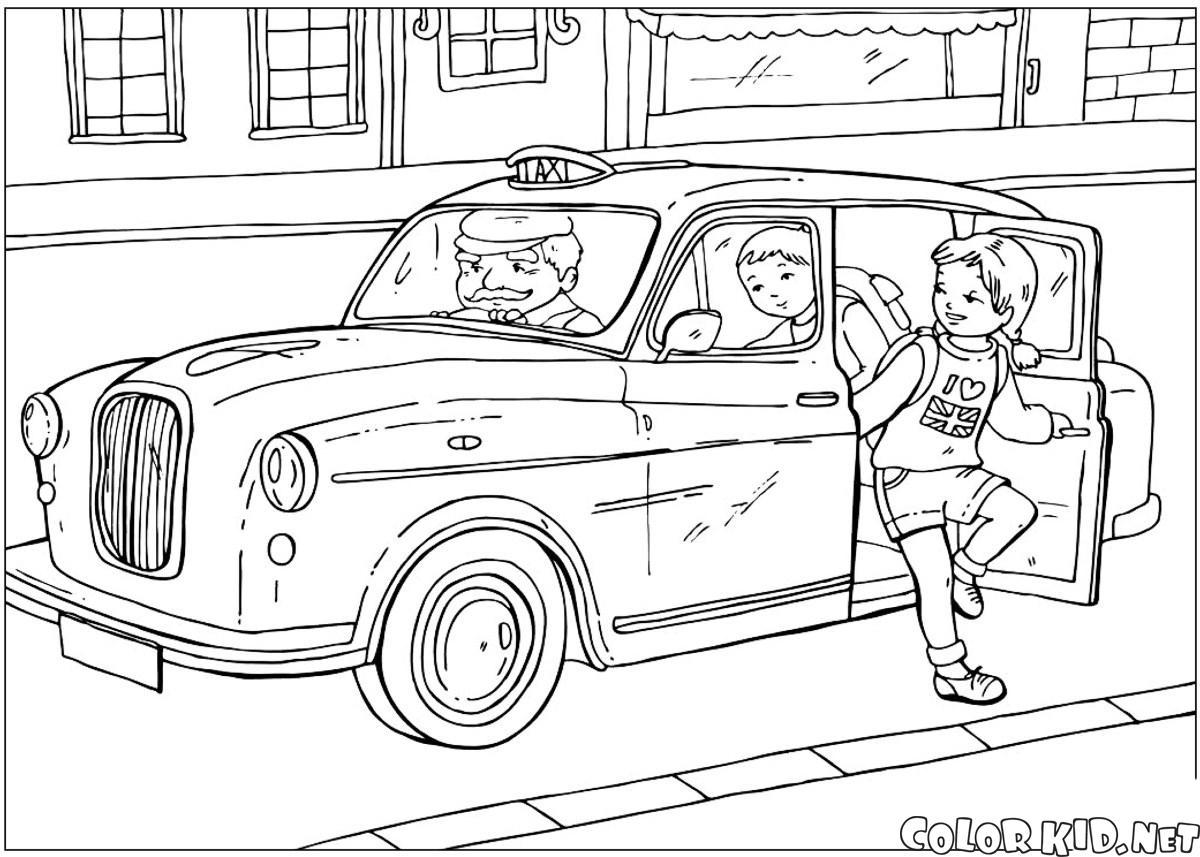 Brytyjski taksówką