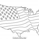 Amerykańska flaga Mapa